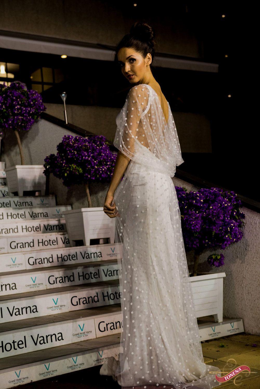 Edwardian wedding dress  Modern Edwardian wedding dress Column wedding dress Bridal dress