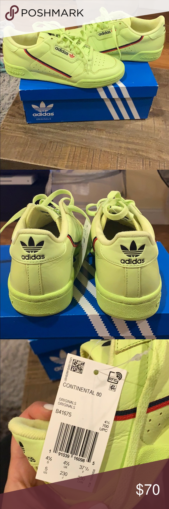 Continental 80 adidas sneakers neon