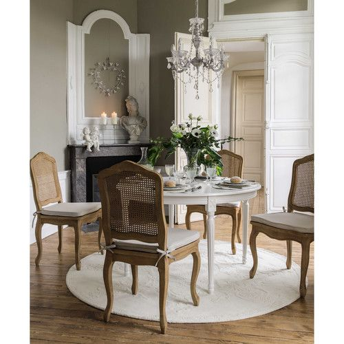 tapis rond poils courts en laine cru d 200 cm maison. Black Bedroom Furniture Sets. Home Design Ideas