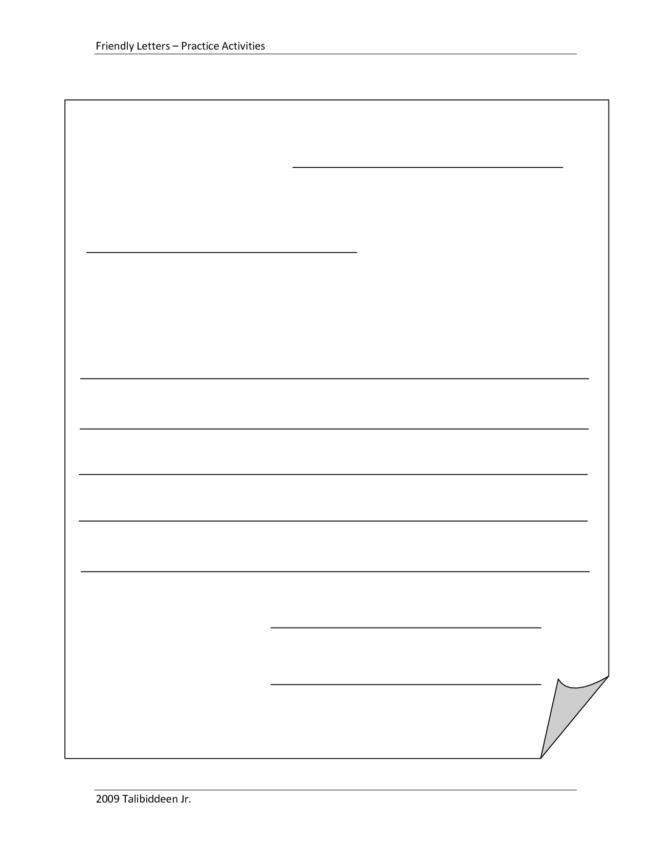 blank letter template for kids