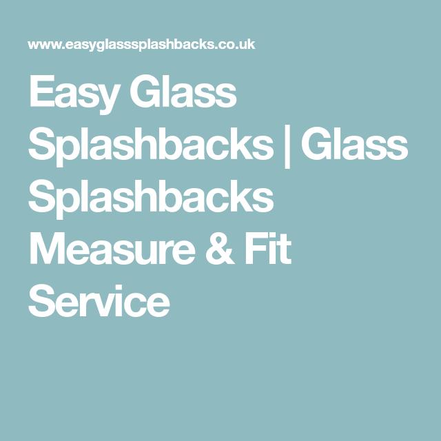 Glass Splashbacks Measure Fit Service