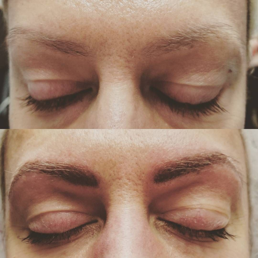 Before and after eyebrows tattoo 3d hair stroke tattoo