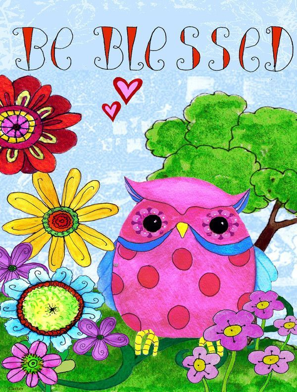 Be Blessed Owl Vertical Flag