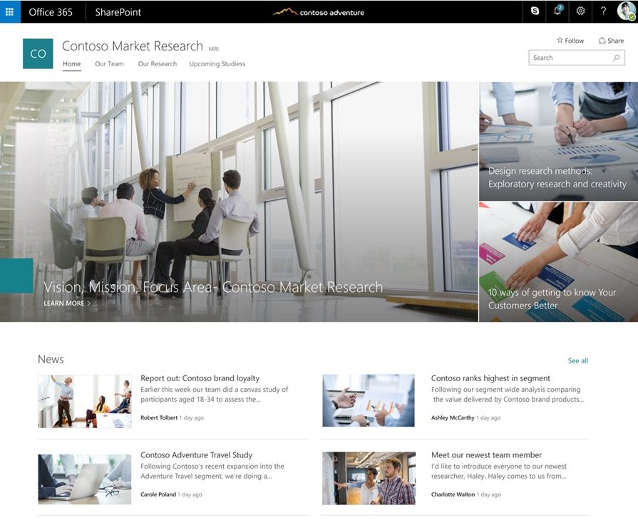 Microsoft Brings SharePoint Communication Sites to Office 365