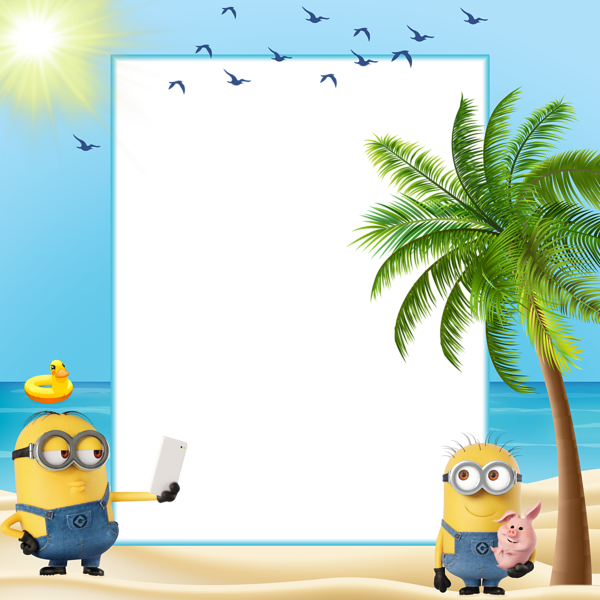 Minions Summer Kids Transparent Frame | Boardes | Pinterest | Summer