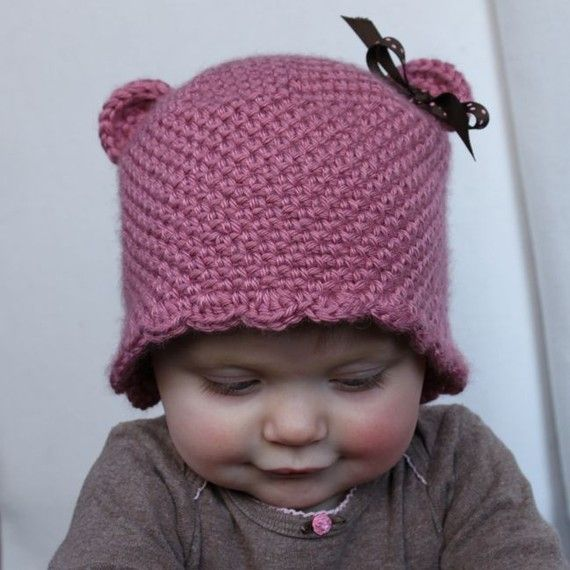 Teddy Bear Beanie - Crochet Pattern - Permission to sell finished ...