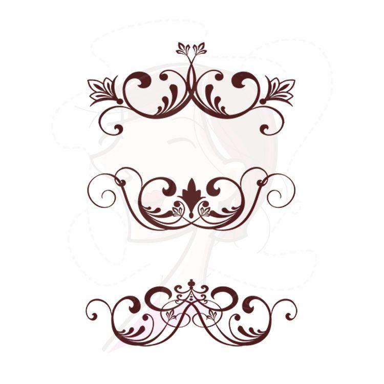 Digital clipart flourish swirls vintage clip art fleur de