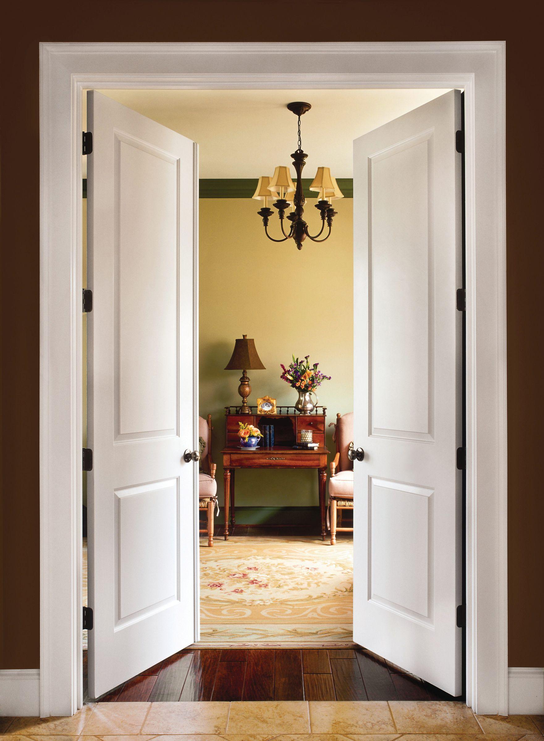 Cambridge Molded Interior French Doors Diy Moldeddoors Homeimprovement Forthehome Doubledoors Frenchd Rumah Kontemporer Rumah Minimalis Pintu Prancis