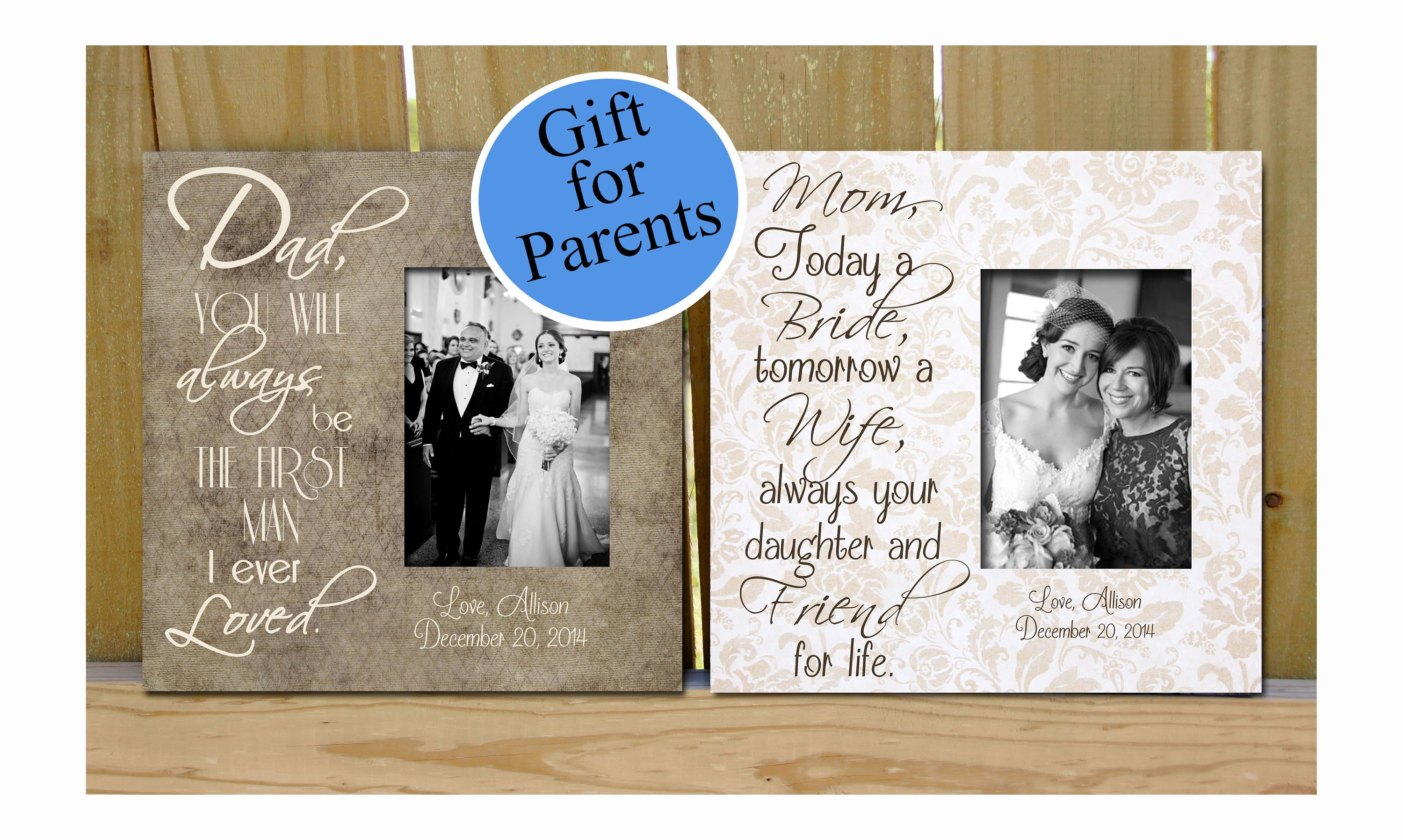 Father and Mother of the Bride gifts, Personalized Picture Frames ...