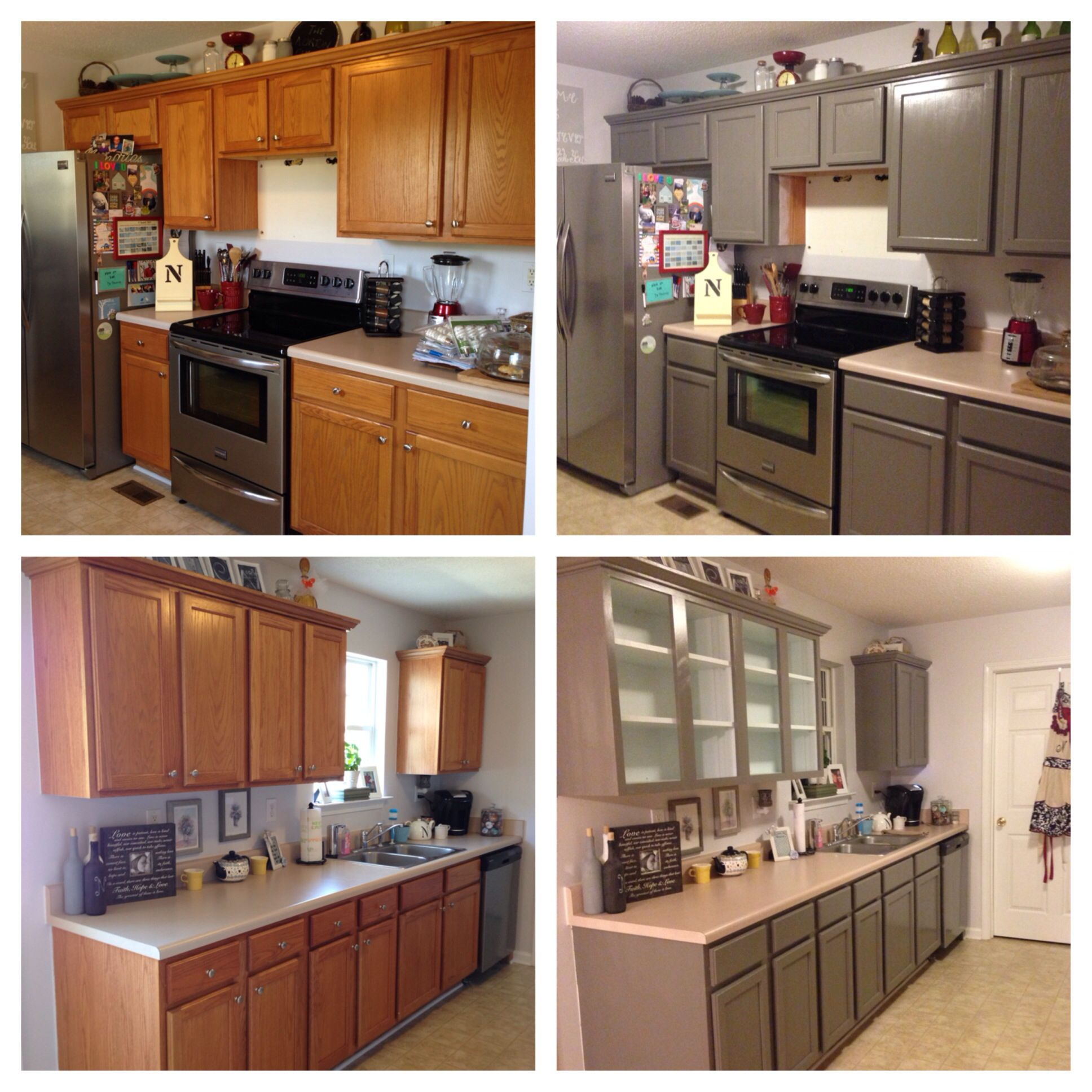 before and after painted cabinets diy kitchen the whipstitch wife painting cabinets on kitchen cabinets painted before and after id=84626