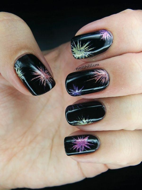 Fireworks nail art by Harriet Lockett - Fireworks Nail Art By Harriet Lockett Hair, Nails & Stuff