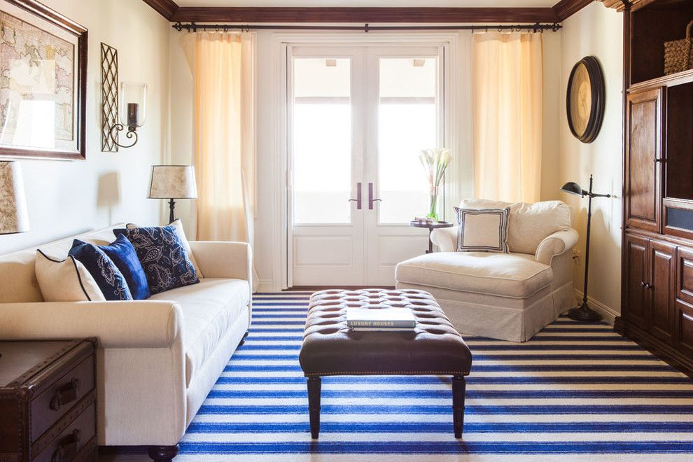 Superior Oversized Chairs Living Room Traditional With Blue And White. Striped  Pastel Oriental Rug ... Part 25