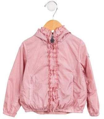 f803ef662c6c Girls  Ruffled Hooded Jacket