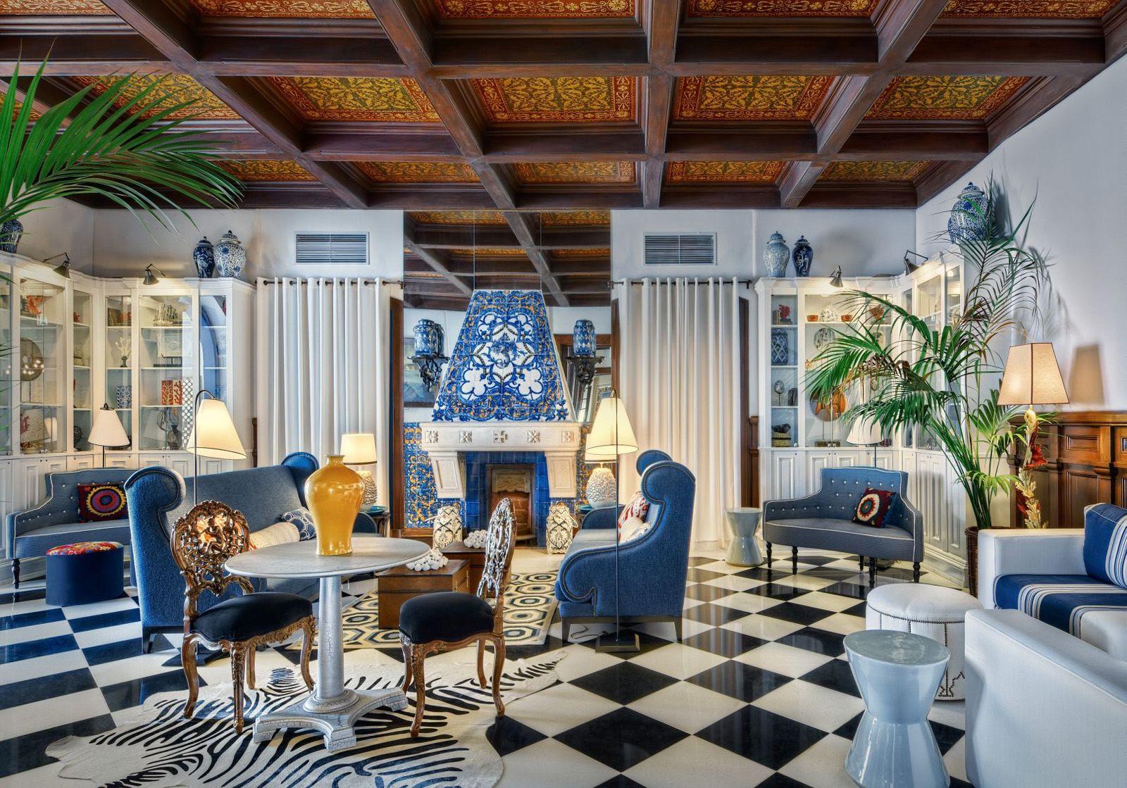 portuguese interior designer gra a viterbo directed the renovation of the bela vista hotel spa. Black Bedroom Furniture Sets. Home Design Ideas