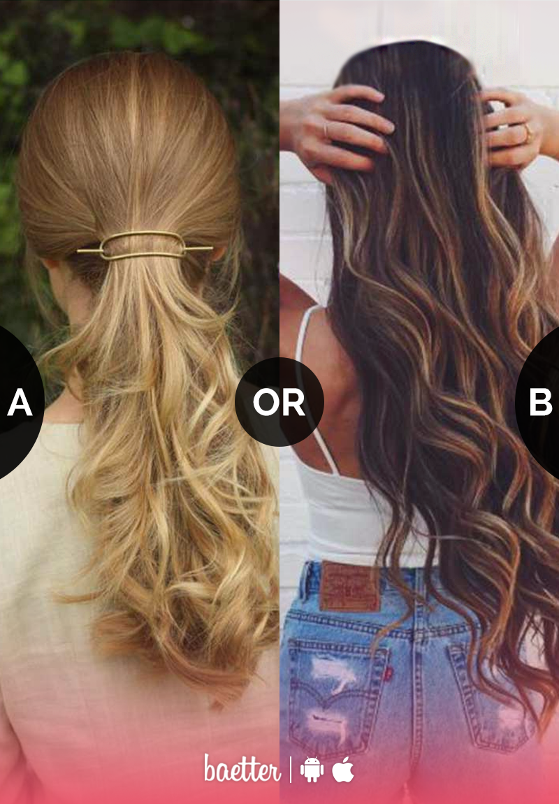 What do you prefer more #tiedhair or #openhair? Vote on Baetter