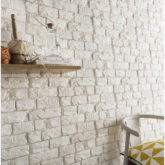 plaquette de parement platre blanc harlem deco inspirations pinterest brick foyer et wall. Black Bedroom Furniture Sets. Home Design Ideas