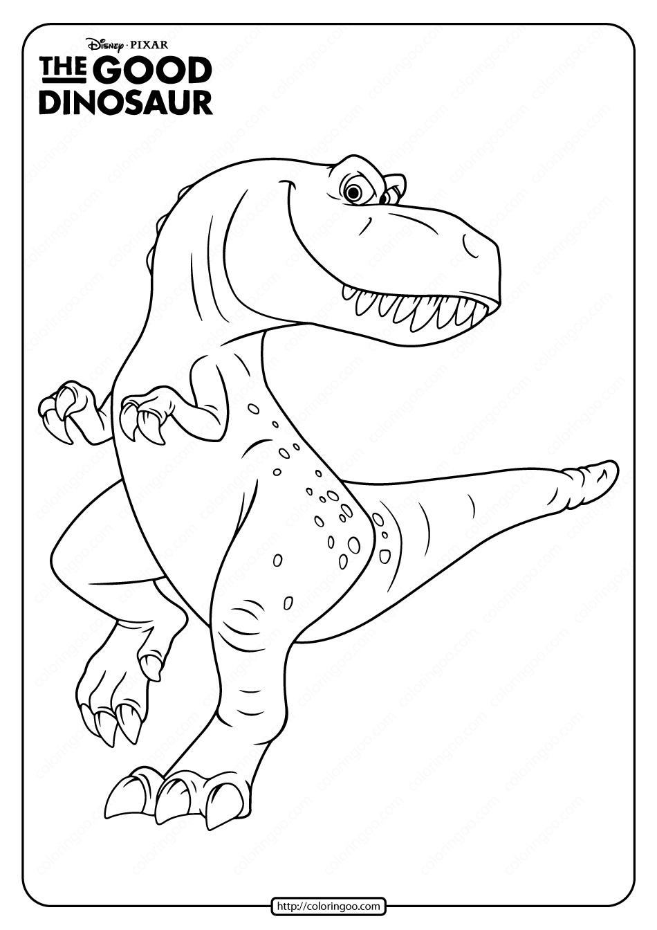 Disney The Good Dinosaur Ramsey Coloring Page Coloring Pages The Good Dinosaur Dinosaur
