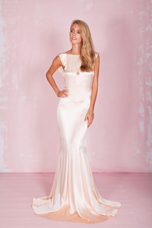 Modern vintage wedding dresses  Petal Dress in Rose  Wedding dresses  Pinterest  Bridal