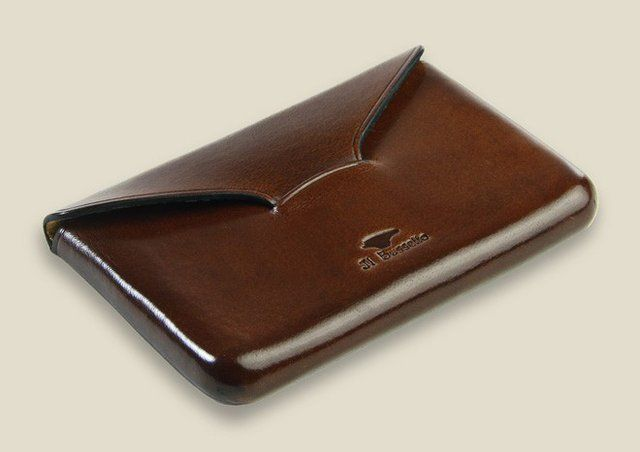 Fancy Business Card Holder By Il Bussetto Leather Business Card Holder Leather Business Cards Card Holder Leather
