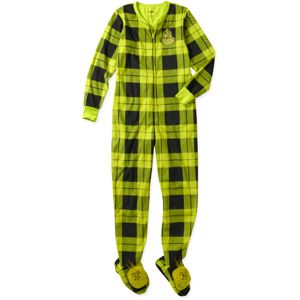 Women's Grinch 3D One-Piece Hooded Footie Pajamas