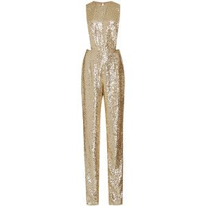 Naeem Khan Sequined Jumpsuit With Jewel Neckline