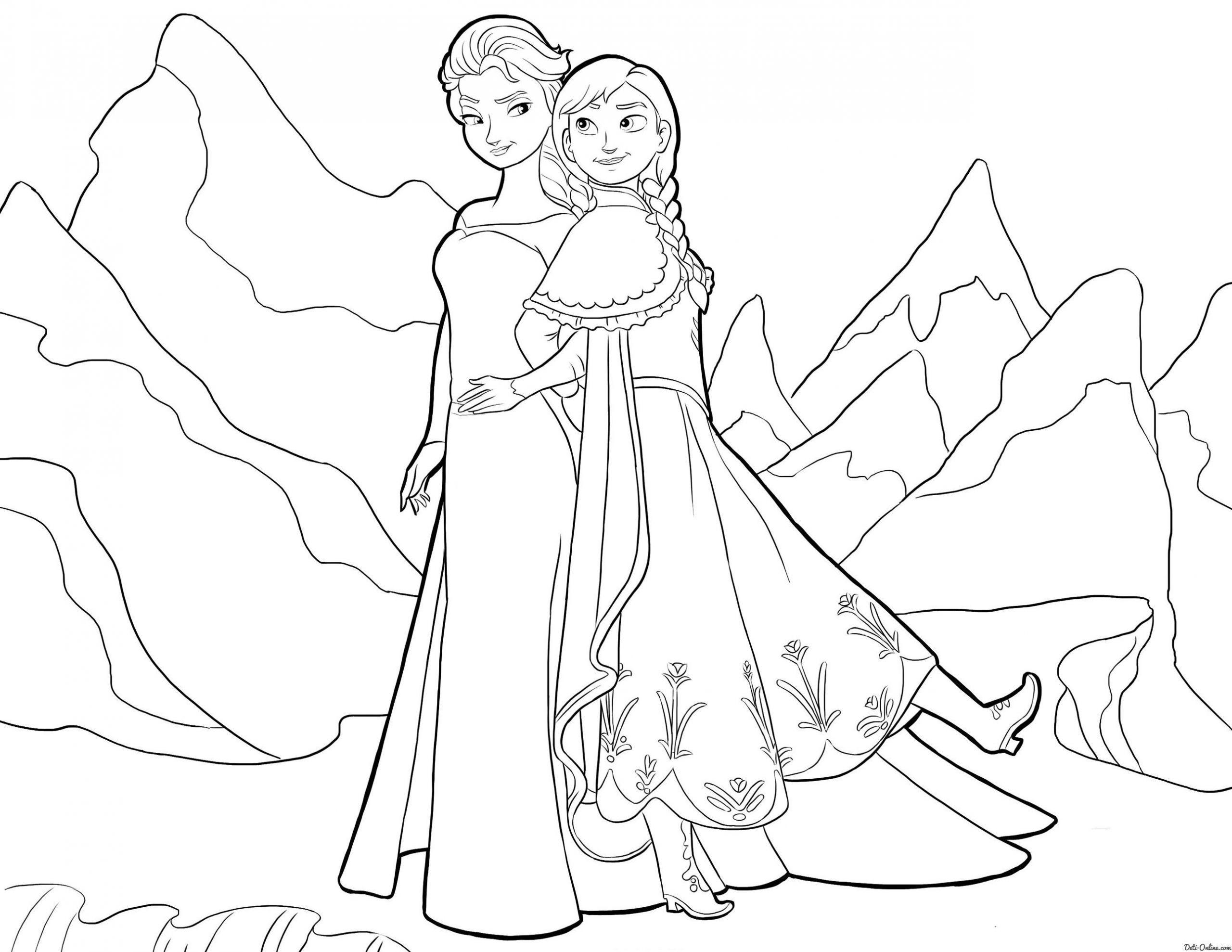 Die Besten Von Kids N Fun Coloring Page Frozen Anna And Elsa Frozen Of Ausmalbilder Elsa Kost