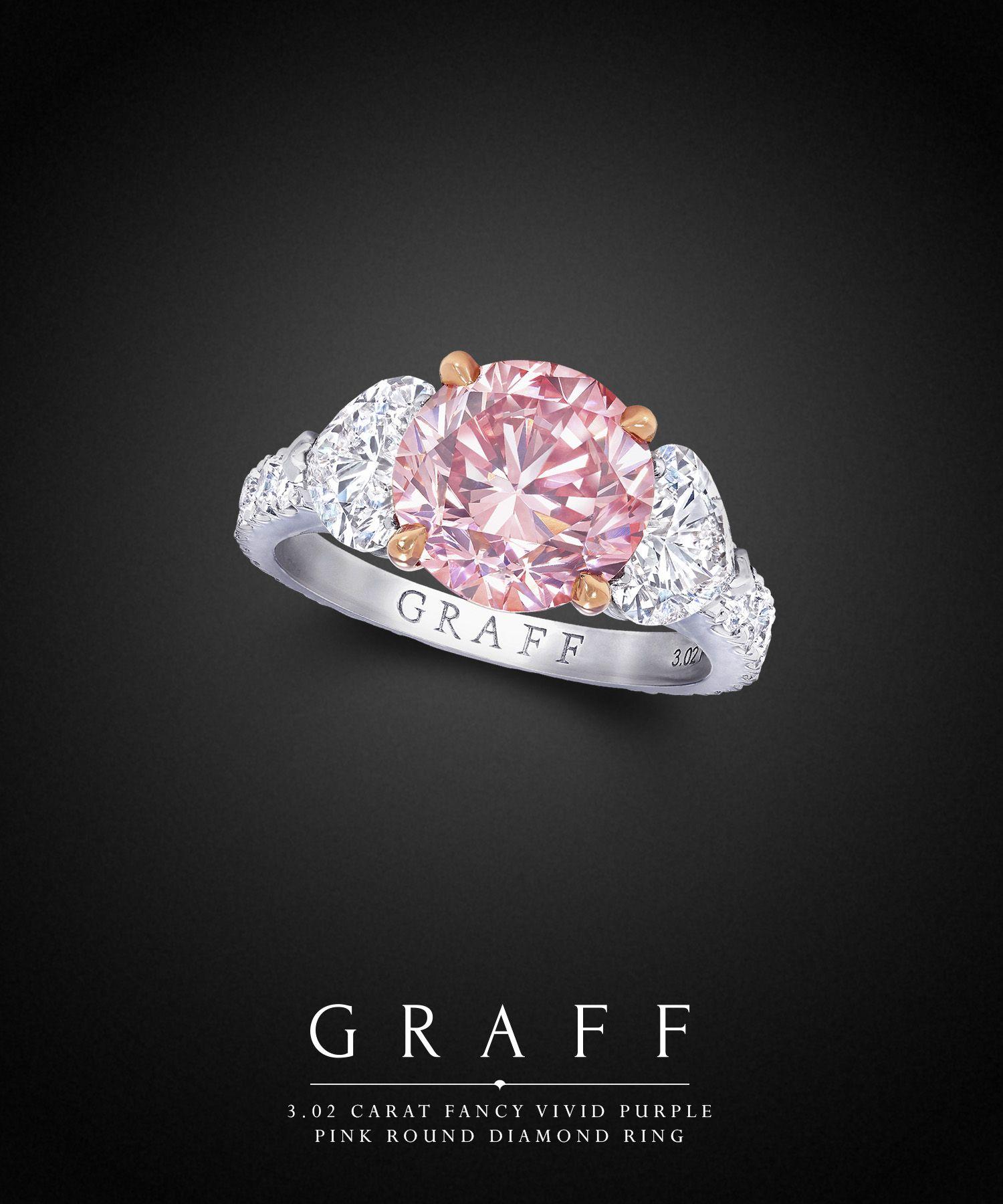 graff diamonds 3 02 carat fancy vivid purple pink round diamond