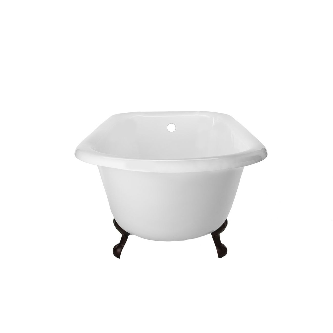 Heritage 67 inch cast iron classic clawfoot tub - no faucet drillings