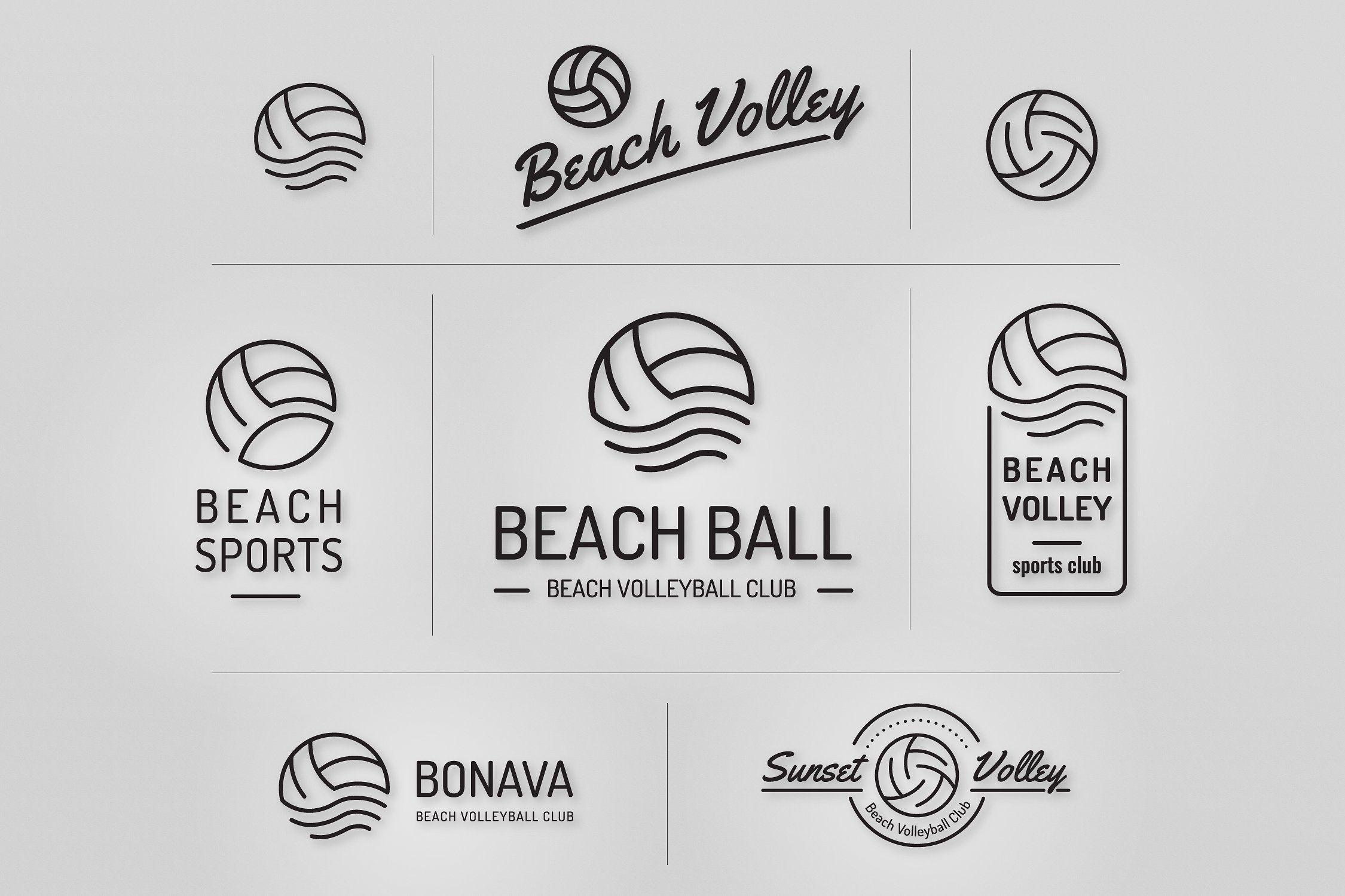 Volleyball Logo Set Logo Set Logo Templates Brand Manual