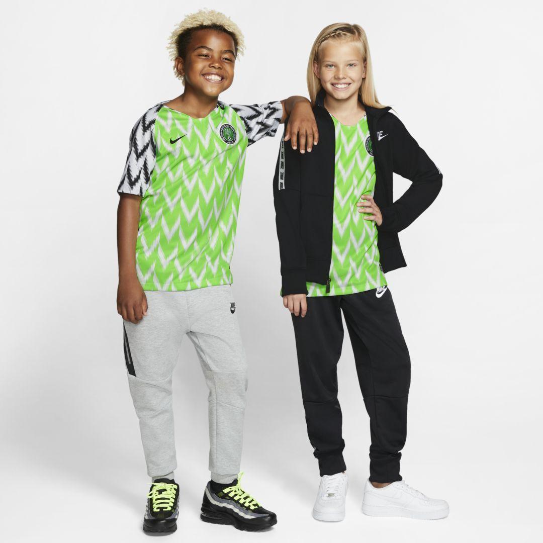 Nike Nigeria 2019 Stadium Home Kids Soccer Jersey Nike Cloth In 2020 Kids Soccer Soccer Jersey Football Kids