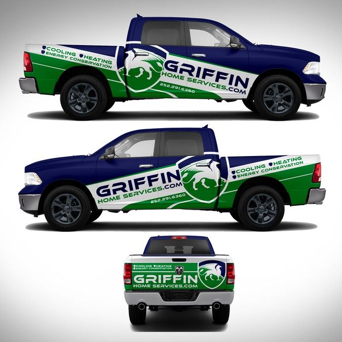 Griffin Home Service Truck Wraps By J Chaushev Van Wrap Truck Design Truck Lettering