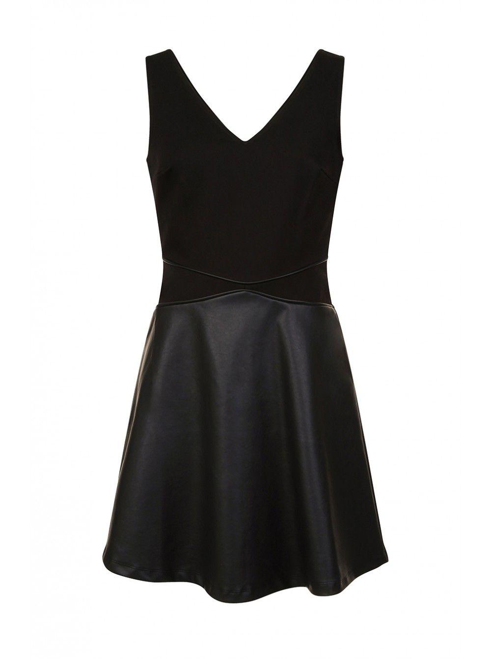 Robe noir Naf Naf, bi matière