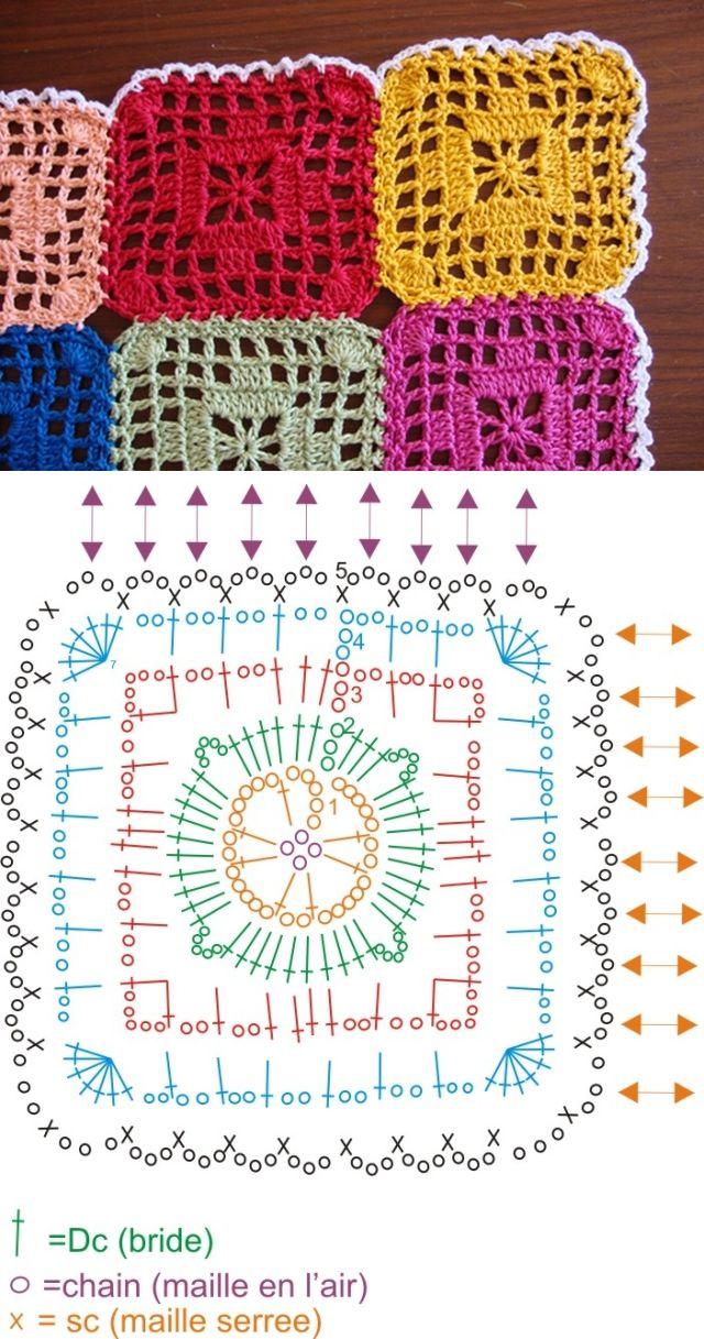 Technique :: Le monde de Sucrette\'s Graphic Square table runner ...