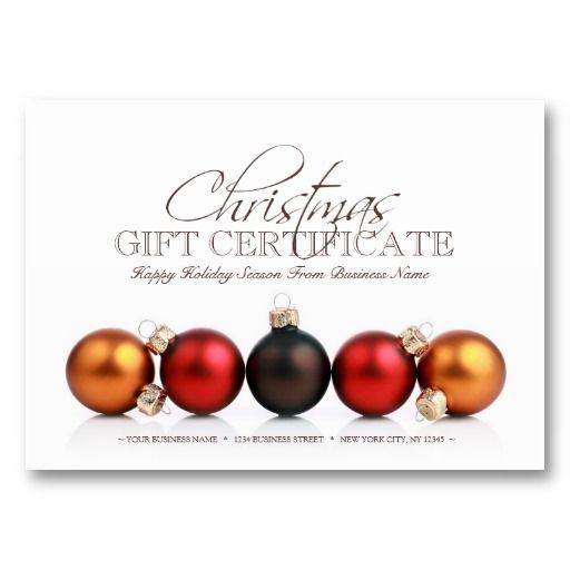 Christmas Holiday Season Gift Certificate Template Zazzle