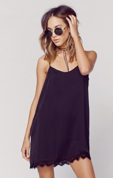 The Show Me Your Mumu Slip Dress with Lace