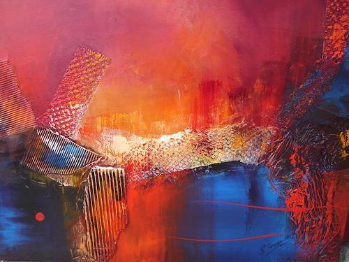 """Silvia Sailer, """"die Brücke""""  Mit einem Klick auf """"Als Kunstkarte versenden"""" versenden Sie kostenlos dieses Werk Ihren Freunden und Bekannten."""