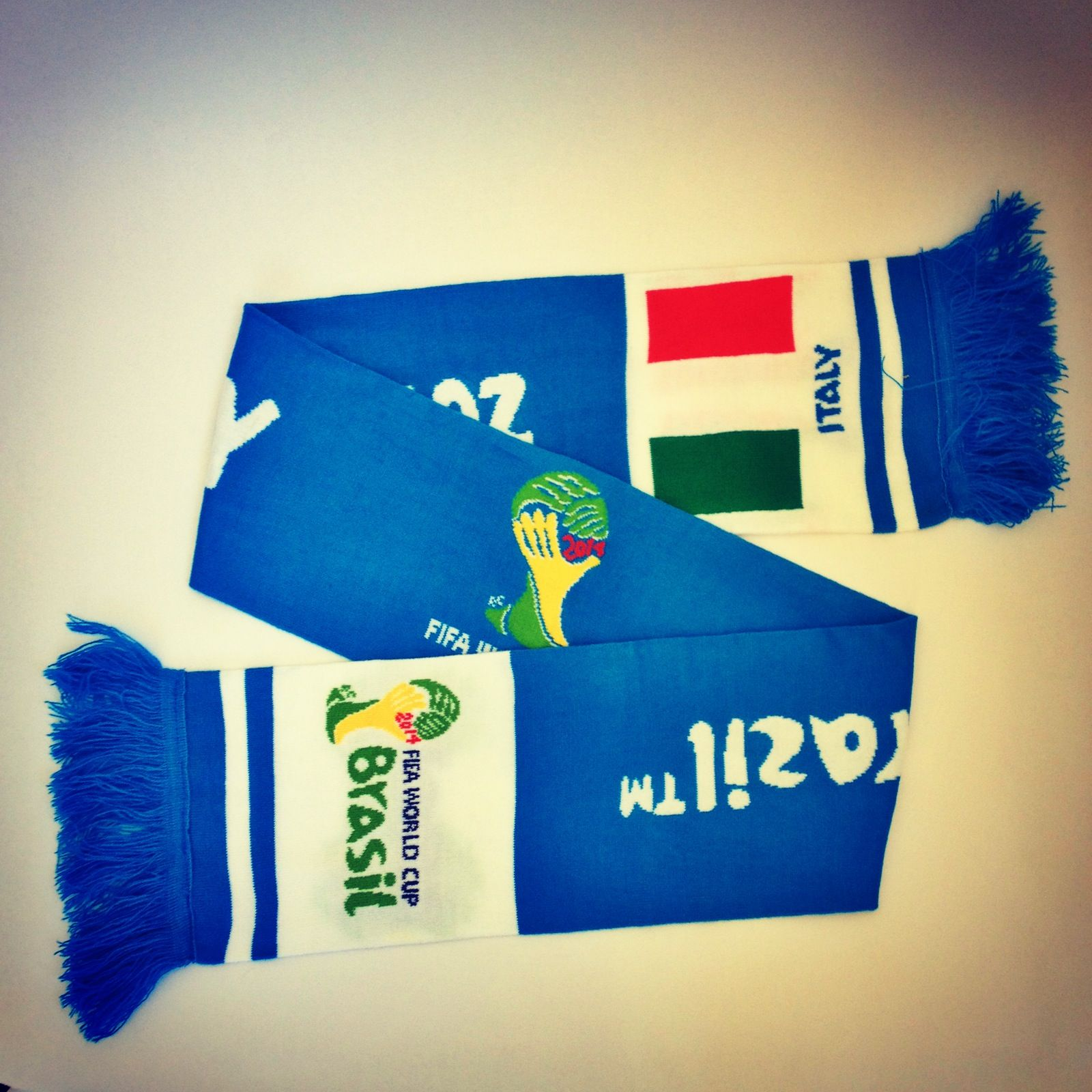 The #FIFA #WorldCup2014 Long Scarf in #Italy #WorldCup2014 #WorldCupBrasil #WorldCupBrazil #scarf #soccer #football #futbol #fan #fashion #style