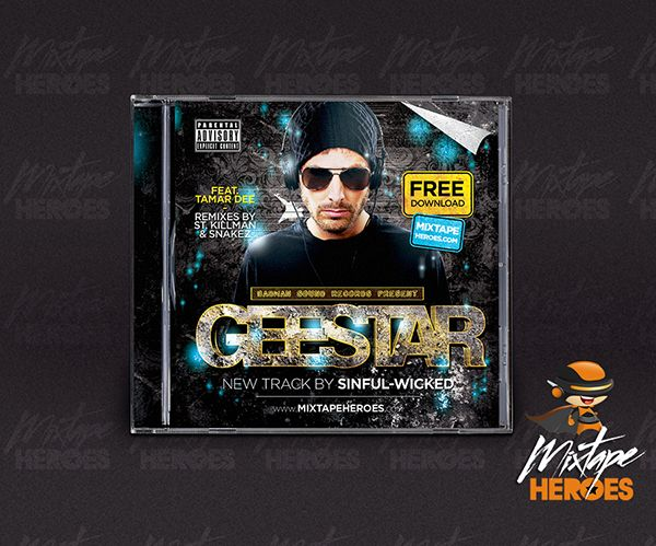 Geestar Mixtape Cover #Free #Psd #Photoshop #Mixtape #Cover