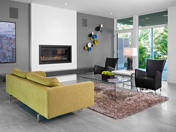 Linear gas fireplace design ideas pictures remodel and for Drywall designs living room