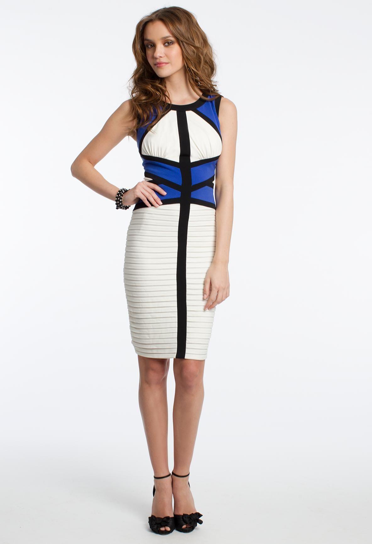 Colorblock jersey dress homecoming dresses shortdress style