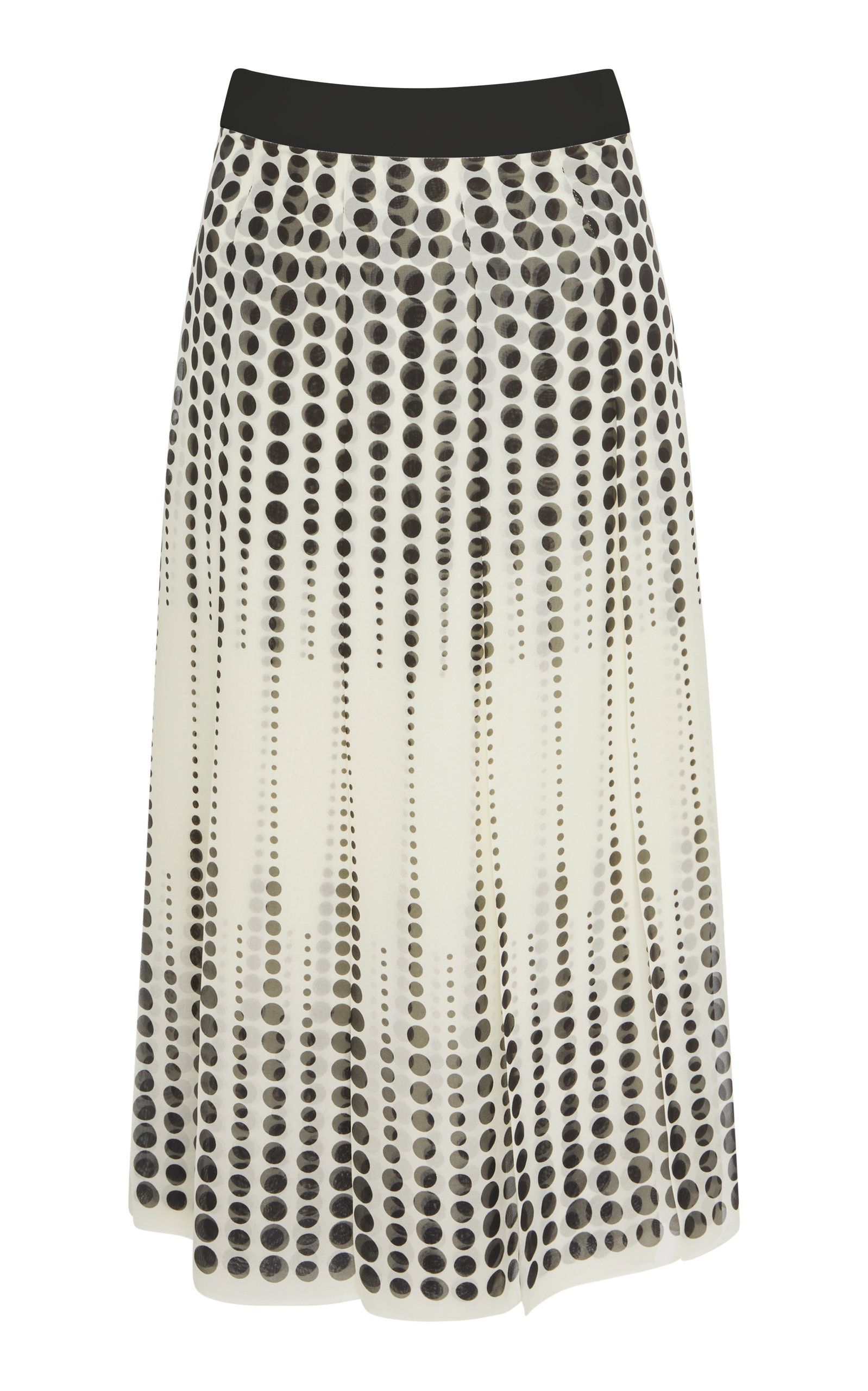 175ce77576 Click product to zoom. Polka-Dot Silk-Chiffon Midi Skirt by GIAMBATTISTA  VALLI Now Available on Moda Operandi