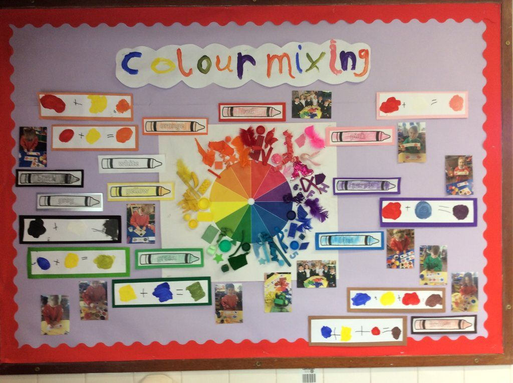 Colour mixing display #fireworkseyfs