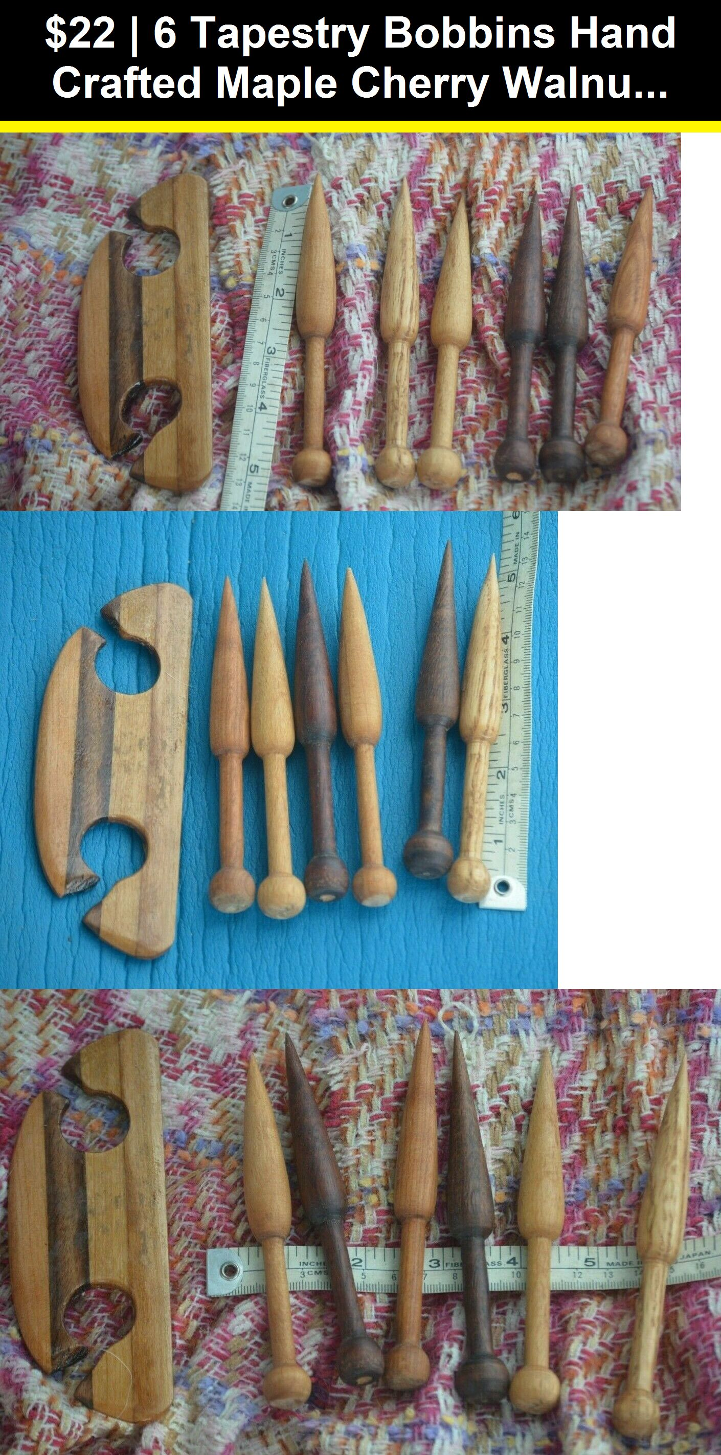 Tapestry Bobbins Hand Turned Set of 3 Second set of wood types