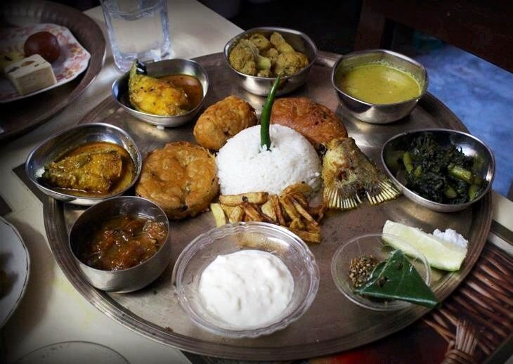 Traditional bengali thali bengalis and their food for Authentic bengali cuisine