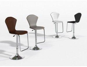 Cortina alto sgabello rivestito in cuoio o rigenerato stools