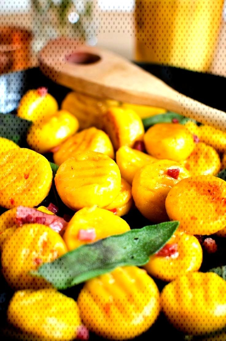 Pumpkin gnocchi with sage butter and bacon - Leelah Loves - Recipe for autumn pumpkin gnocchi with