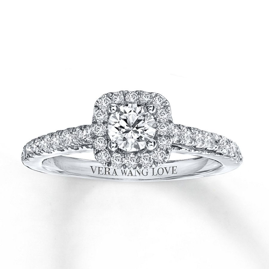 From The Vera Wang Love Collection This Captivating Engagement Ring Features A Mesmerizing 1 Vera Wang Engagement Rings Engagement Rings Opal White Gold Rings