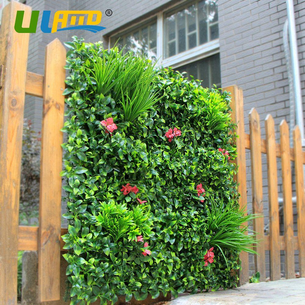 Sqm artificial boxwood plants fence plastic foliage flower hedge