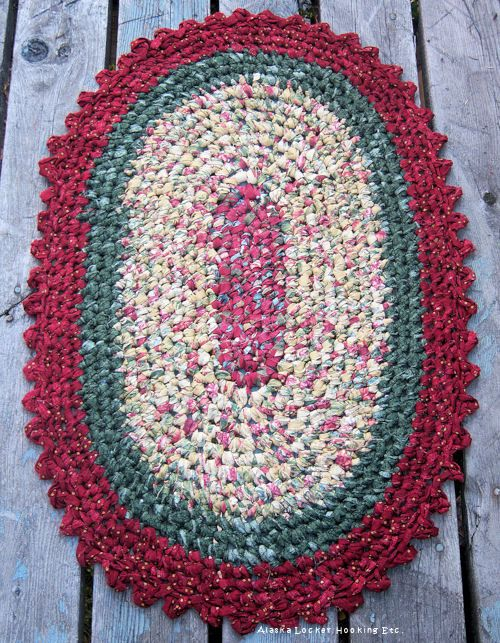 I Think Just About Every Home Entered When Was A Child Had At Least One Of These Crocheted Rag Rug