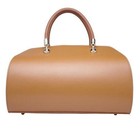 Kitty Camel Italian Leather Handbag